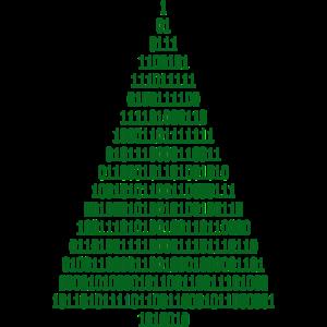 Weihnachten Weihnachtsbaum Binärcode Informatiker