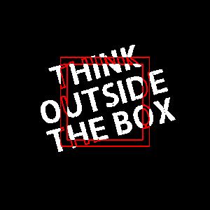 Think outside the box Typografie Künstler Geschenk