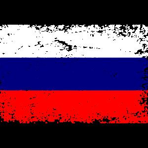 Russland Flagge Distressed Moskau Vintage