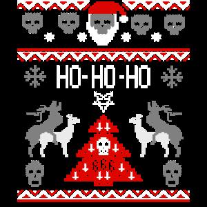 HO HO HO ugly christmas sweater