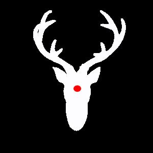Rentier Rote Nase Hirschgeweih Weihnachten