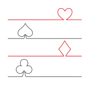 Hearts, Spades, Diamonds, Clubs - Poker Card