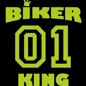 Biker Queen 01mit Krone - giftgruen