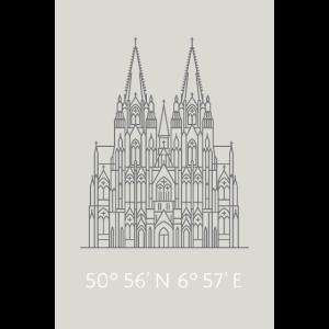 Kölner Dom mit Koordinaten