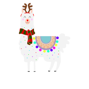 Lama Alpaka Weihnachten