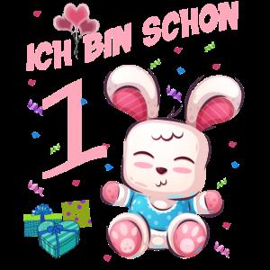 Hasen Geburtstagsshirt – Geburtstag 1 Jahr
