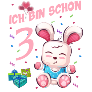 Hasen Geburtstagsshirt – Geburtstag 3 Jahre