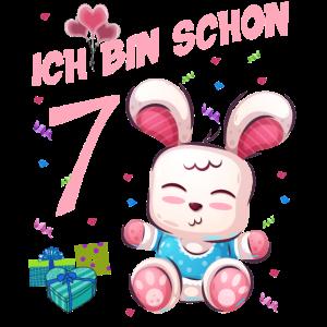 Hasen Geburtstagsshirt –Geburstag 7 Jahre