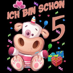 Kuh Geburtstagsshirt – Ich bin schon 5 Jahre
