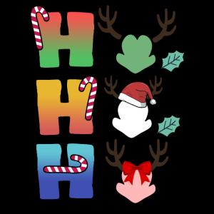 ho ho ho Weihnachten Zuckerstange Schnee Familie