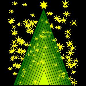 Weihnachtsbaum mit leuchtendem Sternenhimmel