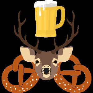 hirsch, bier & brezeln