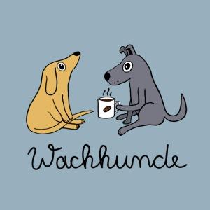 Wachhunde Poster - Nur wach mit Kaffee