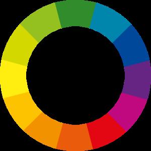 Farbkreis bunt CMYK Geschenk Farbe Druckfarben RAL