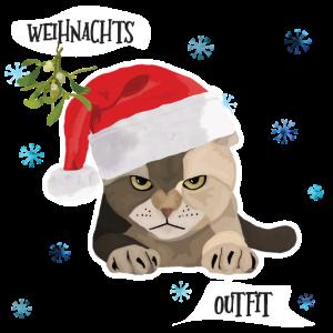 Katze Weihnachten Outfit