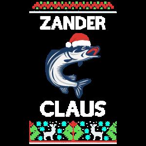 Ugly Christmas Fisch Angeln Zander