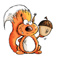 Eichhörnchen - Tier - Tiere - Eichel - Wald