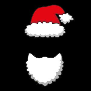 Weihnachten Muetze Bart Weihnachtsmann Simpel