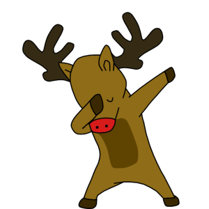 Dab Dabbin Rentier Weihnachten