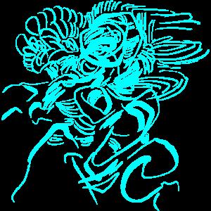 Tribal - Tattoo / Fantasy Petrol Farben
