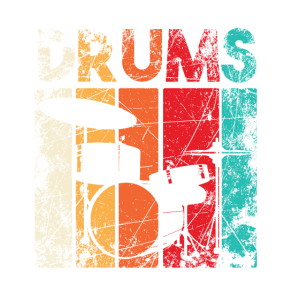 Drums Drummer Schlagzeuger Schlagzeugspieler Retro
