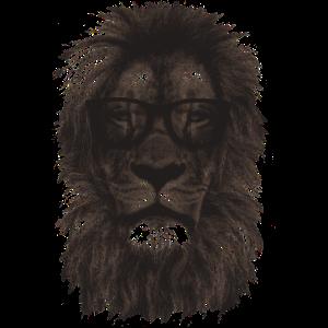 Schwarzer Hipster-Löwe