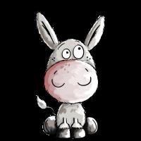 Kleiner Esel - Eselchen - Comic - Tiere