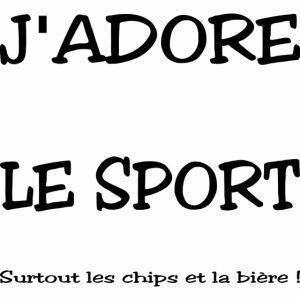 I love sport, chips and beer
