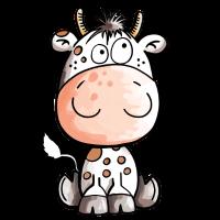 Lustige Kuh - Kühe - Rind - Baby - Comic