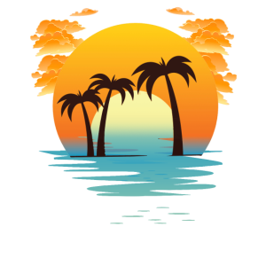 sunset of palms