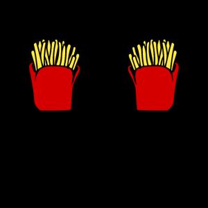 Pommes Fritten Spruch Geschenk