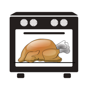 Schwanger Braten in Röhre witzig Thanksgiving