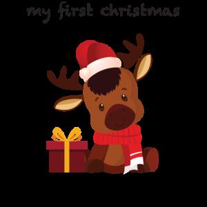 my 1st xmas reindeer my first christmas