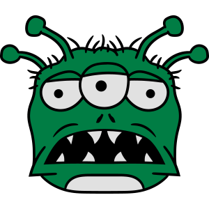 kopf gesicht monster fressen böse alien süß niedli
