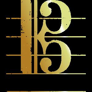 Tenorschlüssel, Notenschlüssel (Goldgelb)