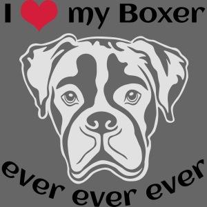 I love my Boxer *hell* nur für dunkle Textilien