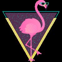 Tropical Flamingo Triangle | 80s Style