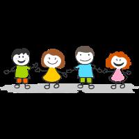 Menschen - Strichmännchen Kinder