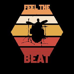 Trommelnder Schlagzeuger