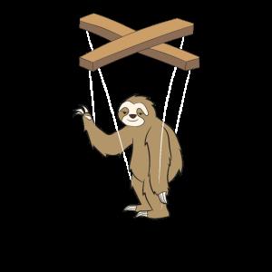 Bauchredner Faultier Marionette Geschenk