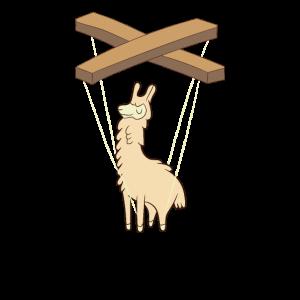 Bauchredner-Lama-Marionetten-Geschenk