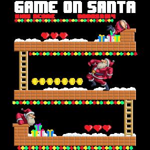 Video Game On Santa Hässlicher Weihnachtsgamer Santa