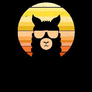 Retro Alpaka Sonnebrille Lama