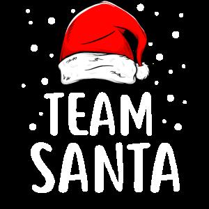 Team Santa Lustiges Weihnachts T-Shirt Geschenk