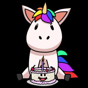 Baby Geburtstag Einhorn Fantasy Geburtstagskind