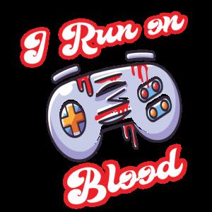 I run on joysticks blood Halloween gamer costume