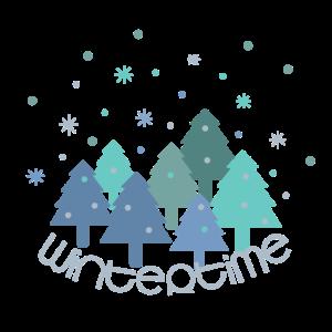 Wintertime, Wald, Tannen