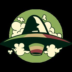 Kiffer Alien Außerirdischer Marsmensch Raggae UFO
