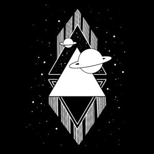 Schwarz weiß Universum