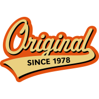 Original Since 1978 (Geburtsjahr, Geburtstag, 3C)